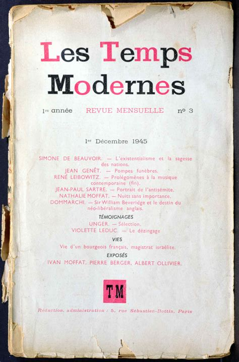 'Les Temps Modernes': End of an Epoch | by Mitchell Abidor