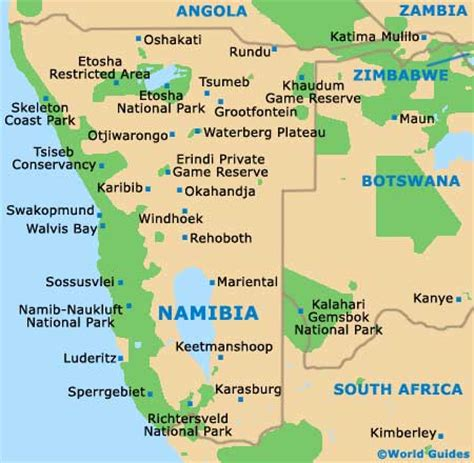 Namibia Towns and Cities: Namibia, Southern Africa