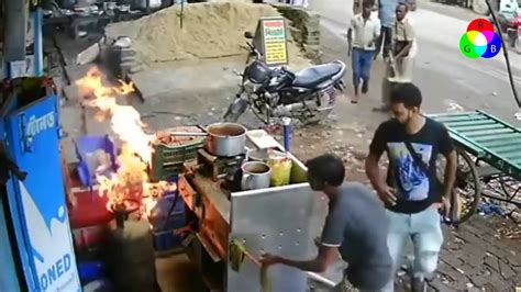 Gas cylinder accident new HD Video 2018 - YouTube