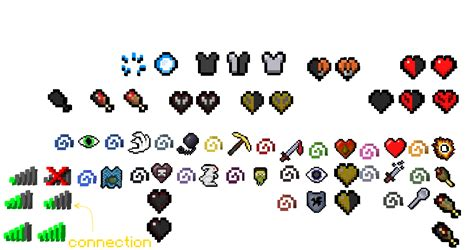 potion particle,health icons,hunger icons and effect icons