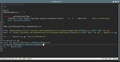 Micro - A Modern Terminal Based Text Editor with Syntax