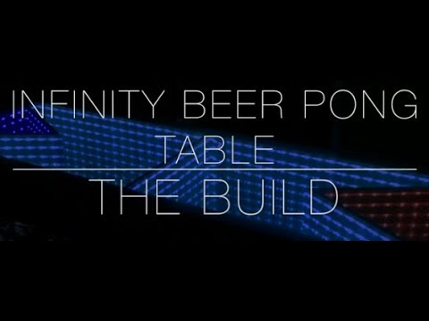 Infinity LED Beer Pong Table   Color Changing Lights