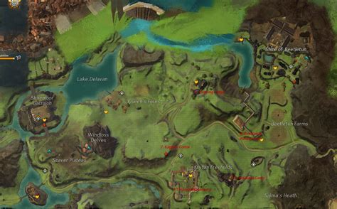 Guild Wars 2 Hero Points Map