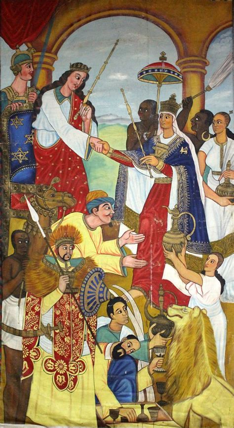 The Journey of the Queen of Sheba | A painting by an
