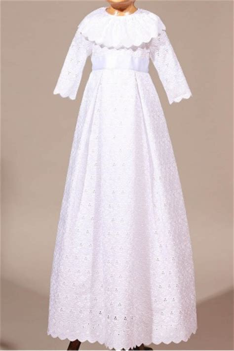 Robe bapteme broderie anglaise-Place Dauphine